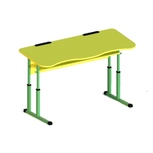 Student table 2-seater with a shelf, anti-scoliotic, from a height, №4-6