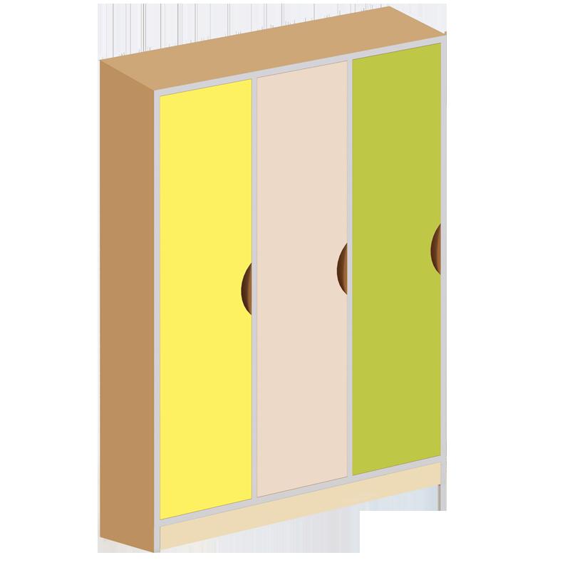 Шкаф детский 3-местная с фигурными дверями