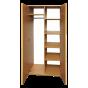 Шкаф для одежды и книг закрыта 2-дверная