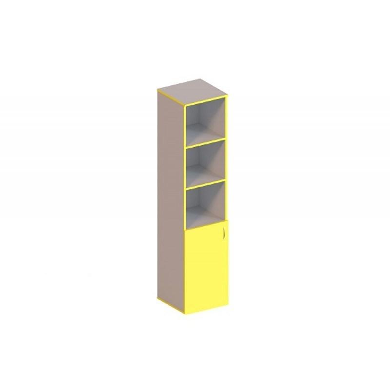 (1362С) Пенал 1-дверний напівзакритий на 5 відділень  з полицями
