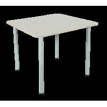 Стол для столовых 4-местный с круглой трубой