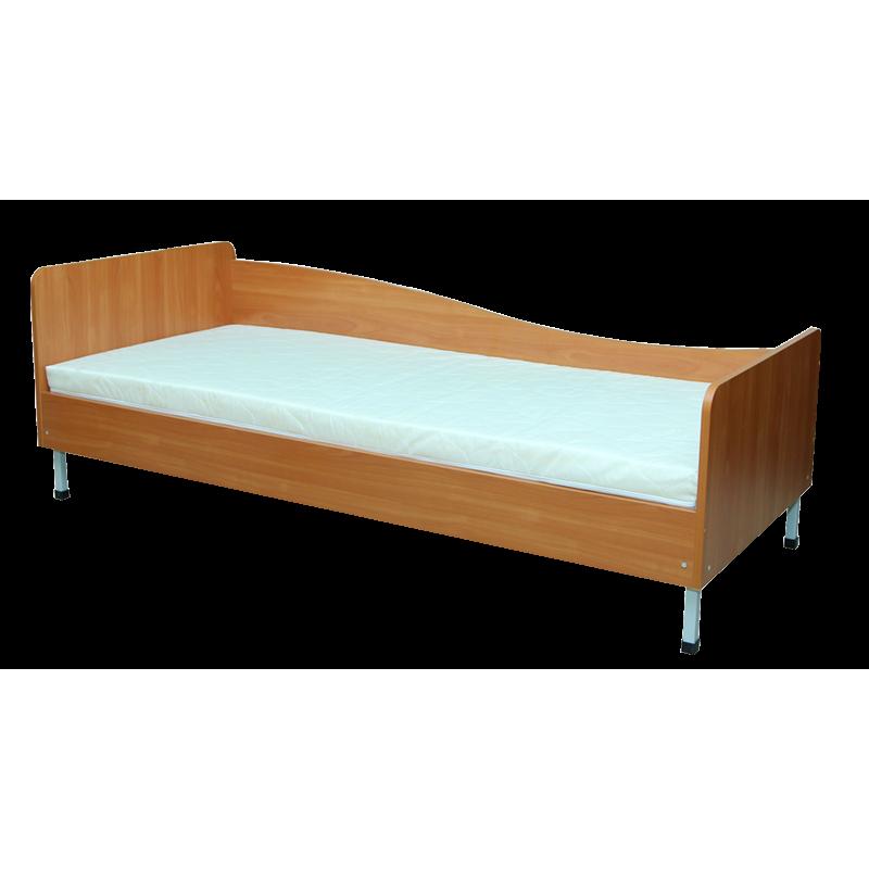 Кровать 1-спальная с закругленными спинками, ЛЕВОЕ
