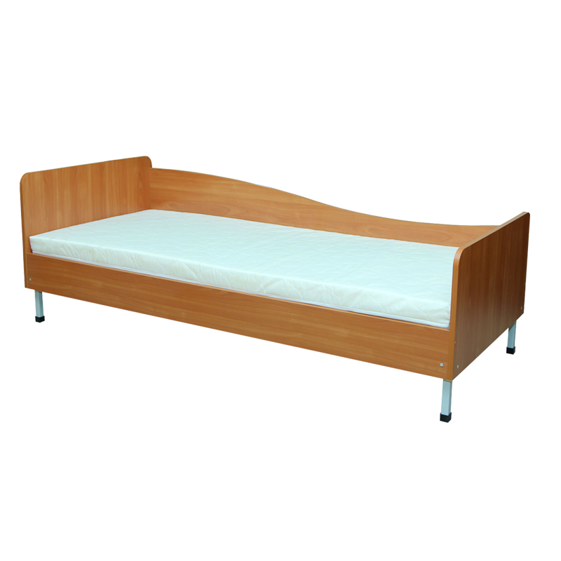 Ліжко 1-спальне з заокругленими спинками, ПРАВЕ