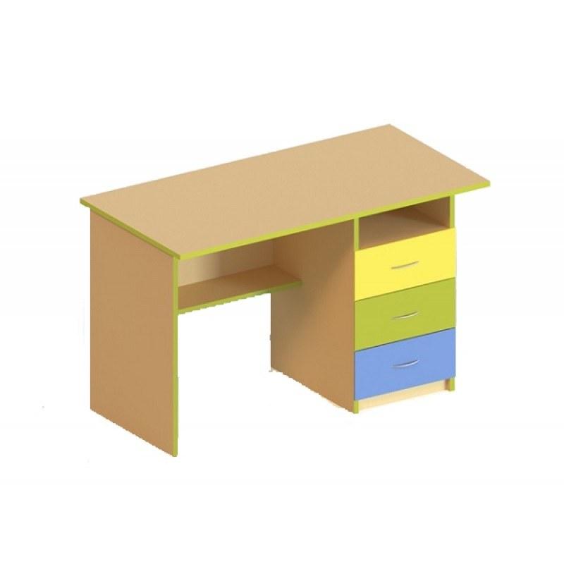 (5102C) Стол письменный с тремя ящиками справа