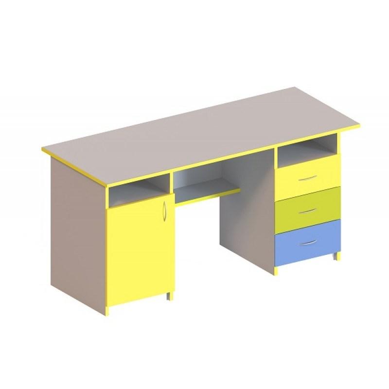 (5104C) Стол письменный 1-дверный и с 3-мя ящиками