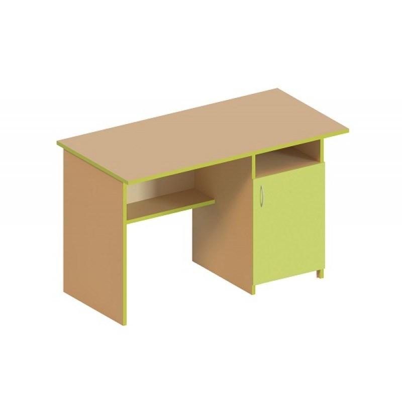 (5141C) Стол письменный 1-дверный, тумба справа