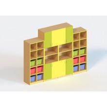 Стінка для дидактичного матеріалу (з пластиковими лотками)