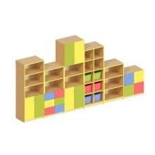 Стінка меблева модульна 6 елементів (без пластикових лотків)