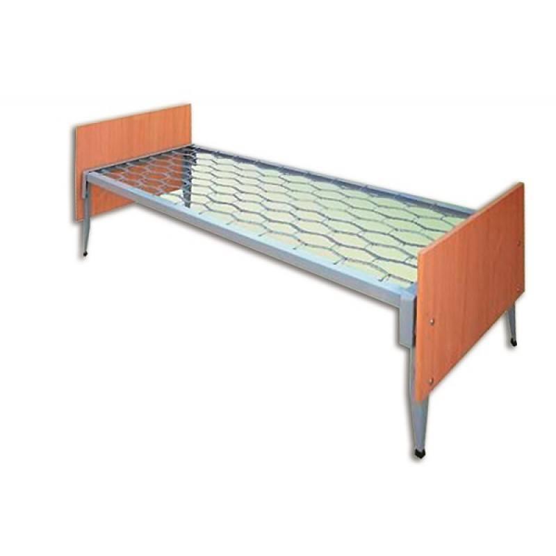 Ліжко 1-спальне з металевою сіткою