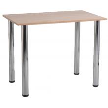 Стол для столовых прямоугольный 4-местный на хромированных ножках