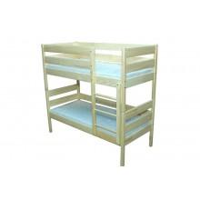 Кровать детская из натуральной древесины 2-х ярусная