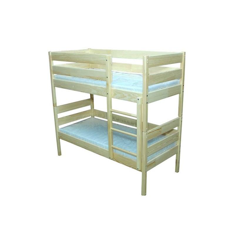Ліжко дитяче з натуральной деревини 2-во ярусне