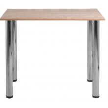Стол для столовых квадратный 4-местный на хромированных ножках