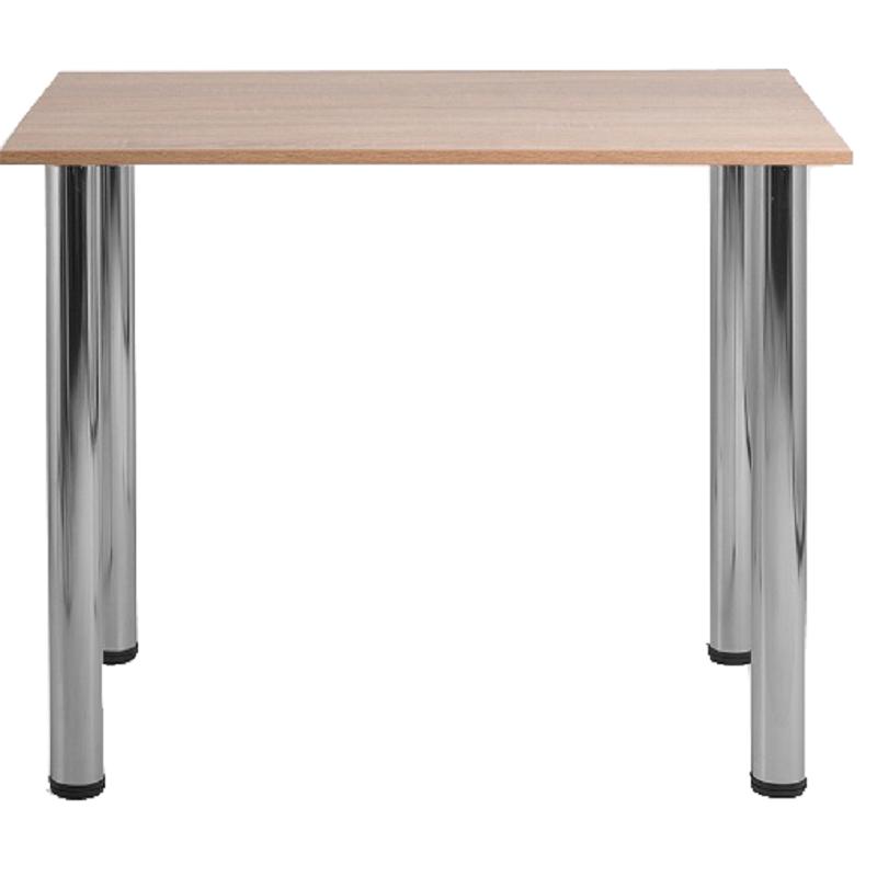 Стіл для їдалень квадратний 4-місний на хромованих ніжках