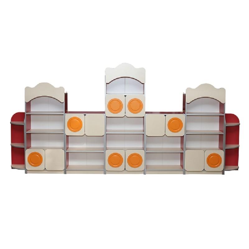 Стінка дитяча з 7-ми елементів з накладками МДФ