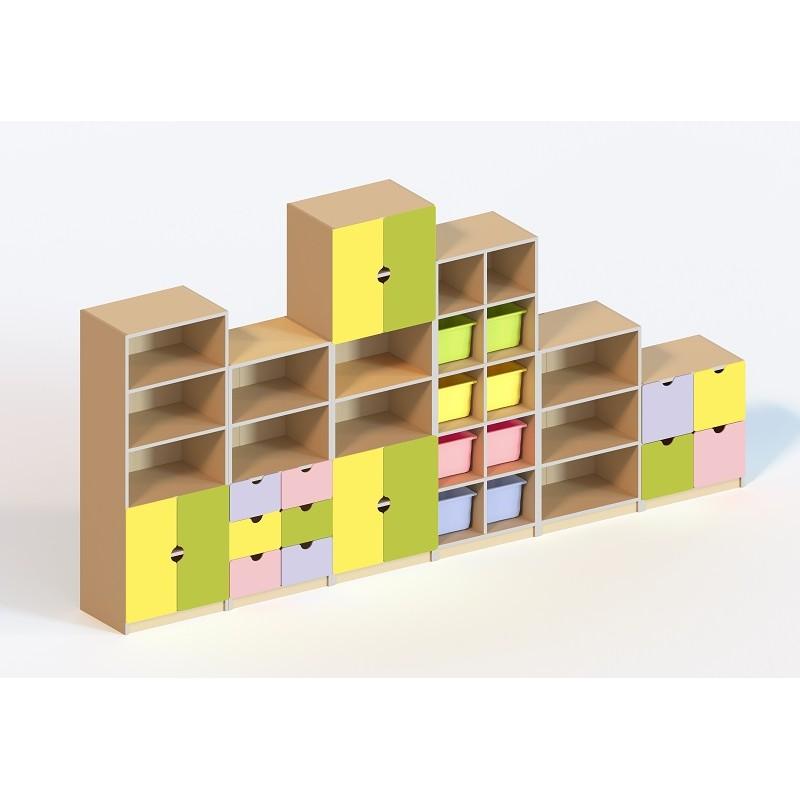 (5500) Стенка мебельная модульная для кабинета