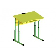Student table 1-seater with a shelf, anti-scoliotic, with height adjustment, №4-6