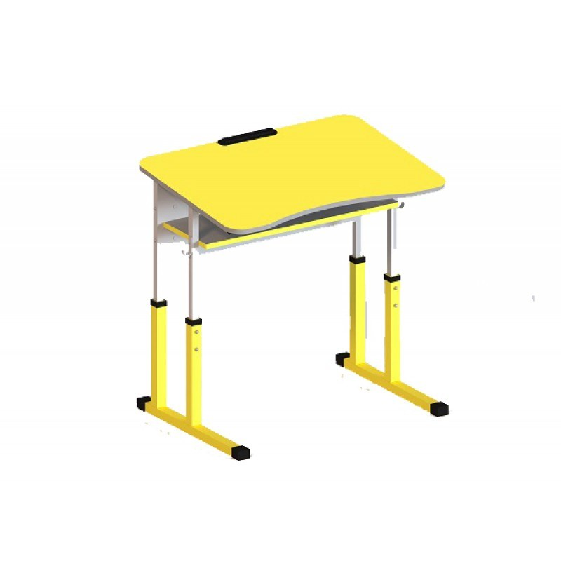 Student table 1-seater with a shelf, anti-scoliotic, with height adjustment, №2-5