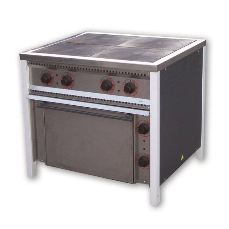 Плита электрическая ПЭ-4Ш с жарочным шкафом