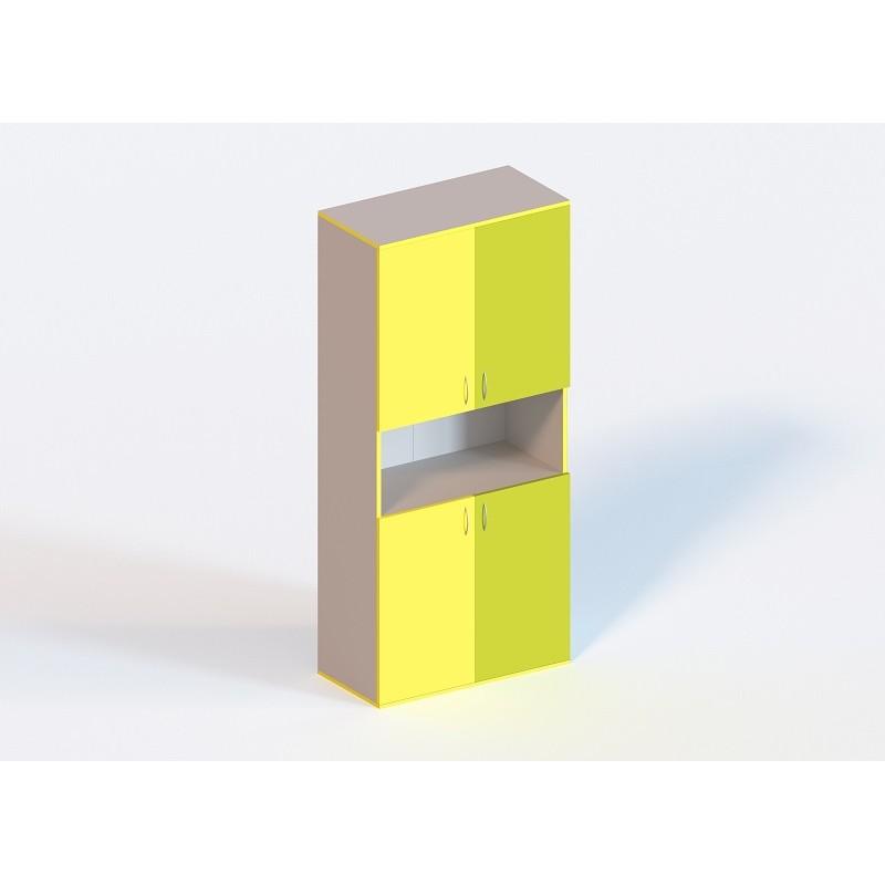 (1333С) Шафа книжкова напівзакрита 4-дверна