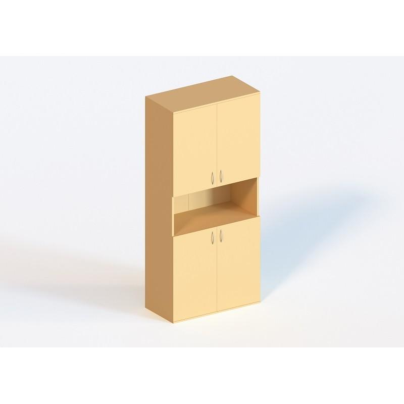 (1333) Шкаф книжный полузакрытый 4-дверный