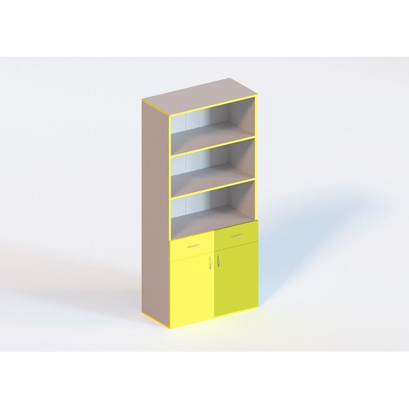 (1340С) Шафа книжкова з 2 шухлядами 2-дверна