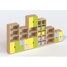 (5500) Стінка меблева модульна 6 елементів (без пластикових лотків)