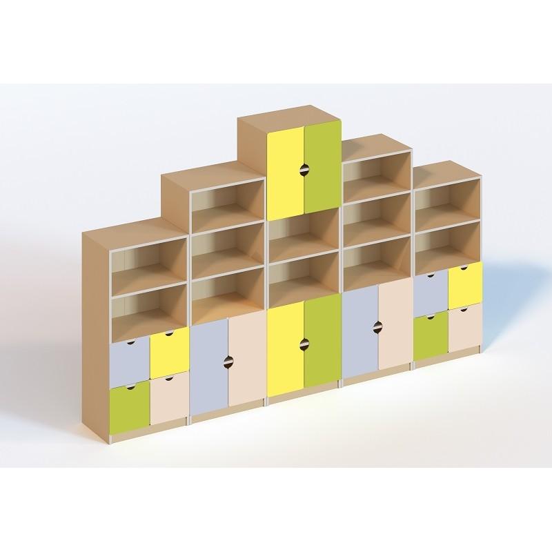 (6104) Стенка мебельная модульная для кабинета