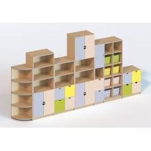 (6107) Стенка мебельная из 7 элементов (без пластиковых лотков)