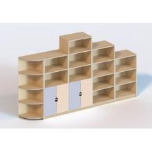 (6108) Стінка меблева модульна з 5 елементів (без пластикових лотків)