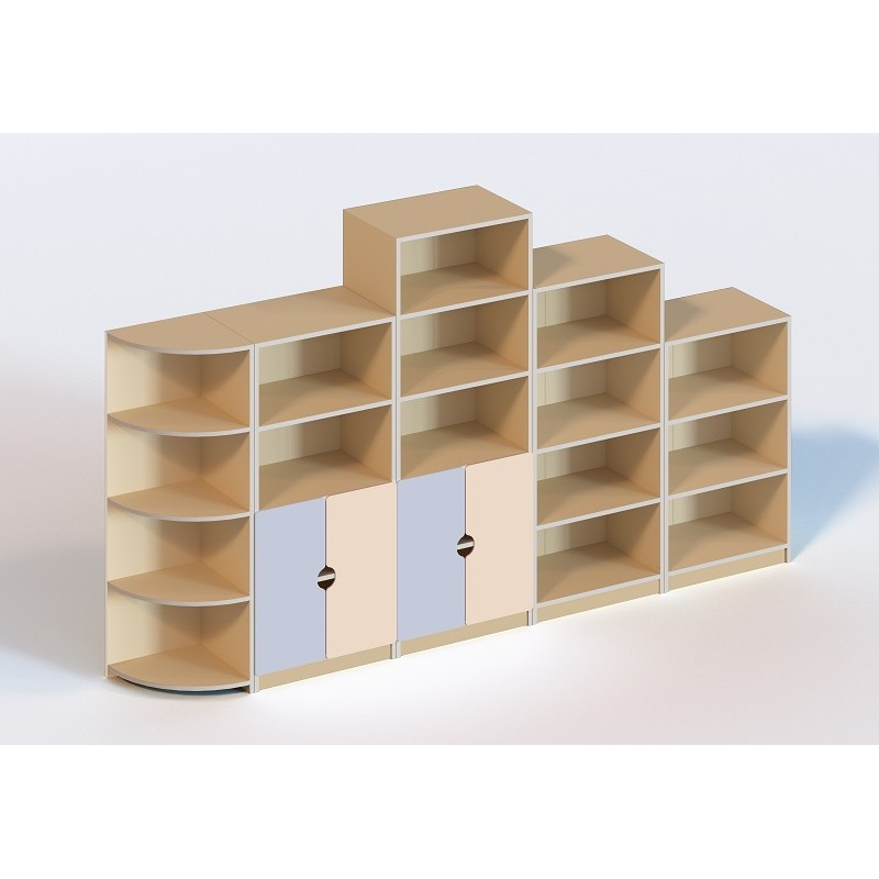 (6108) Стенка мебельная из 5 элементов (без пластиковых лотков)